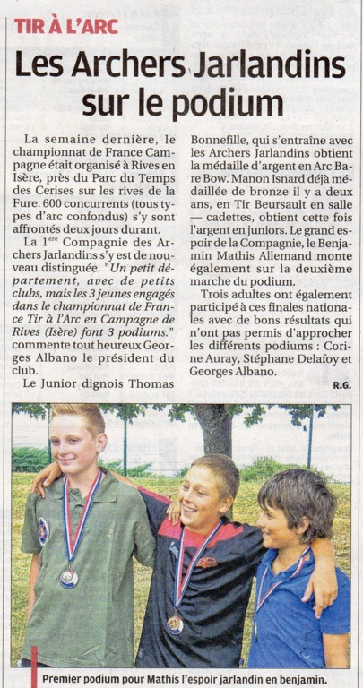 Article la Provence des sports  4/7 /2015
